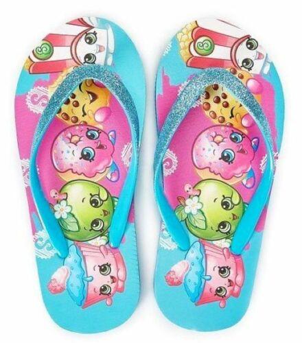 SHOPKINS APPLE BLOSSOM Girls Flip Flops Beach Sandals w// Optional Sunglasses NWT