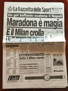 GAZZETTA-DELLO-SPORT-28-11-1988-NAPOLI-MILAN-4-1-MARADONA-GOAL-novembre
