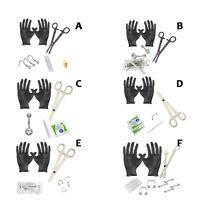 Beginner Body Piercing Kit 14g 16g 18g Body Jewelry Forceps Needles
