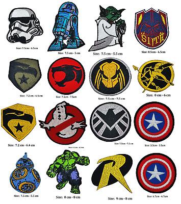 Starwar superhero iron on patch game Hulk predator captain thunder ghost GI Joe