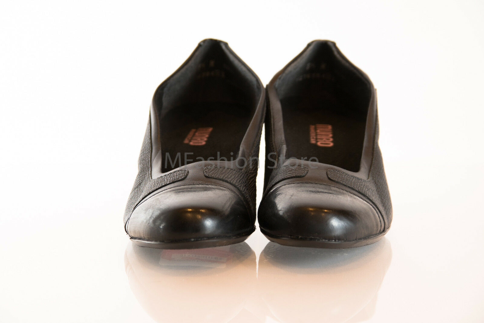 MUNRO nero nero nero Leather Heels   Slip On donna scarpe Dimensione US 7W & 8.5N New e31d11
