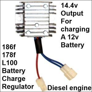 14.4v Battery Charger Voltage Regulator Rectifier 186f 178f Diesel Engine