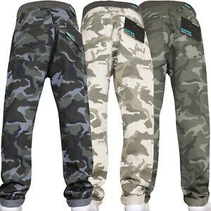 Garcons-Pantalon-Cargo-Armee-Enfiler-CAMOUFLAGE-taille-elastique-jouer-Pantalon-Combat