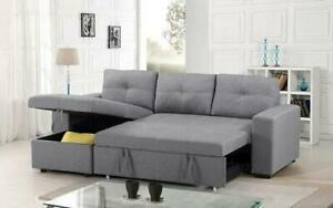 BRAND NEW CERENE SECTIONAL SLEEPER SOFA WITH STORAGE(OPTION TO PAY ON DELIVERY)FINANCING AVAILABLE AT 0% Peterborough Area Preview