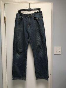 finest selection 1bf33 ceb35 Details about Men's Patagonia Jeans Organic Cotton Denim Blue Size 32
