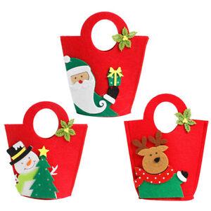 Eg-Babbo-Natale-Pupazzo-di-Neve-Alce-Candy-Apple-Borsa-Contenitore-Regalo