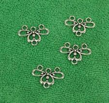 40pcs Tibetan silver charms flowers earring connector 13X18X2mm