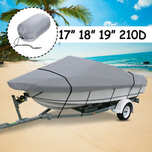 17-19ft-210D-Waterproof-Heavy-Duty-Boat-Cover-Dinghy-Speedboat-Fish-Ski-V-Hull