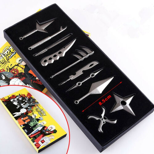 Hot Anime Naruto Uzumaki Kakashi Cosplay Weapon Pendant 10pcs//Set
