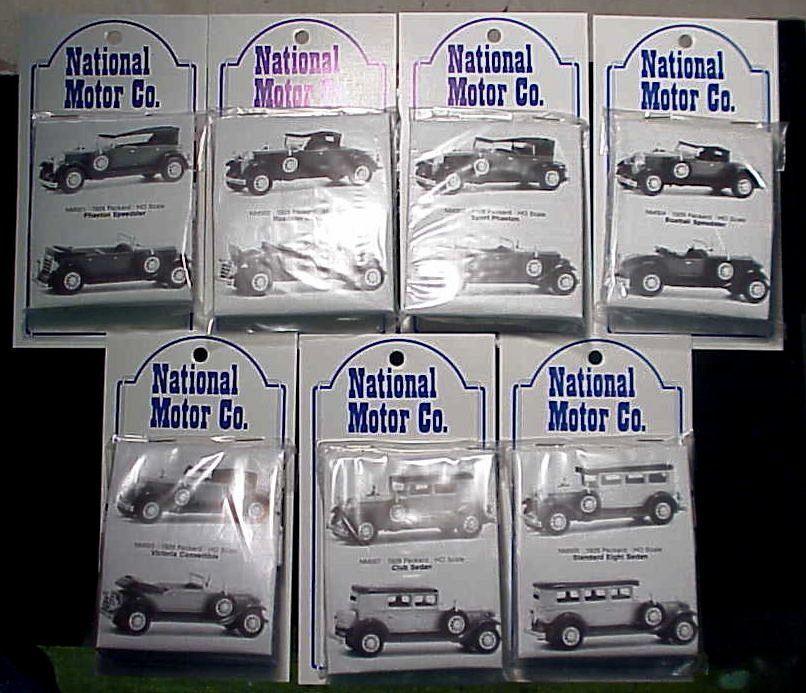 Ho/hon3 Wiseman nm008 2018 Packard 7 Car Set Nacional Motor Company Kits
