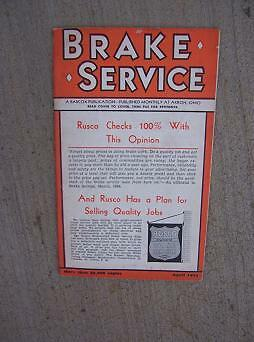 1934 Brake Service Magazine Oldsmobile Alignment Instructions Trade Paper Auto H