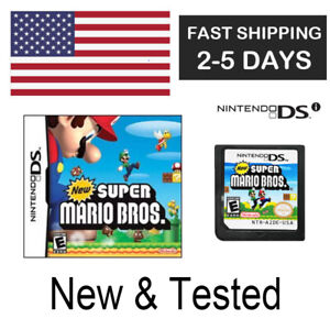 New Super Mario Bros 2006 Nintendo DS Lite 3DS Game Card Only Tested