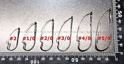10 Packs of 2 20 Danielson Weedless Sproat Fish Fishing Hooks HXWSBR-4//0