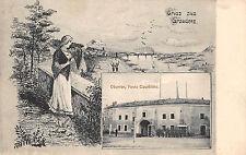Graudenz / Grudziądz Preußen Obdertor, Feste Courbiere Gruß Postkarte