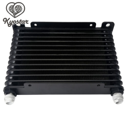13 Row Oil Cooler BLACK AN10 Universal Mount Engine Transmission 10-AN cooling