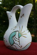 Southwest Tigua Indian Pueblo Wedding Vase Kokopelli Fertility God Artist Signed