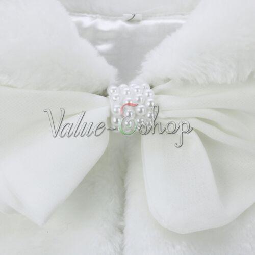 Little Girls Faux Fur Princess Bridesmaid Shrug//Wedding Bolero//Cape Coat//Jacket