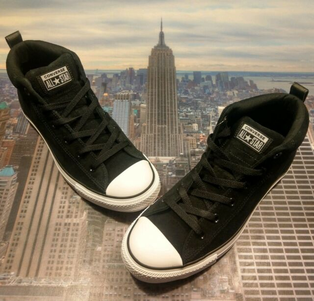 Converse Chuck Taylor All Star Street Mid Top Suede BlackWhite Size 10 161465c