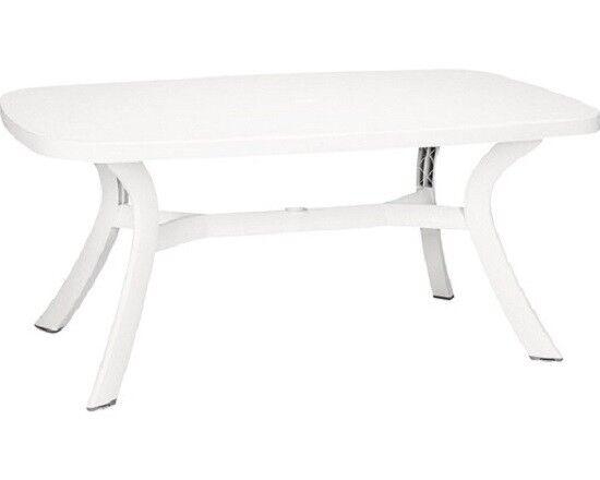 Tavolo Giardino Plastica Bianco.Tavolo Nardi Toscana Ovale 165 Bianco Plastica Antiuv Anti