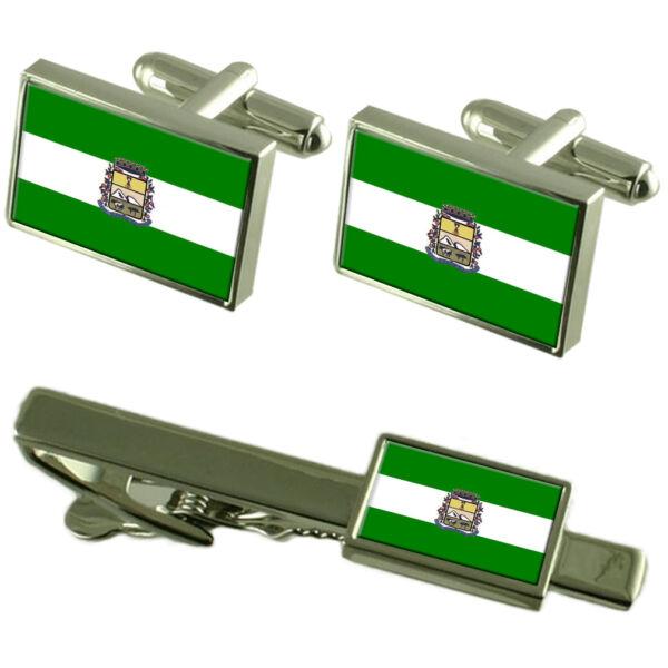 Herrlich Sao Joaquim Stadt Sankt Catarina Staat Flagge Manschettenknöpfe Clip-krawatte Kunden Zuerst