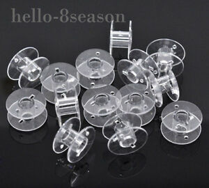 50-Clear-Plastic-HOT-SELL-Spools-for-Thread-String-Sewing-Machine-Bobbin-Case