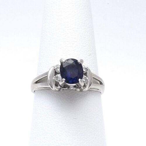 Platinum Natural Blue Sapphire September Birthston