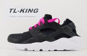 8248083db8d Nike Huarache Run GS Youth Black White Pink Blast 654280 007 Msrp ...