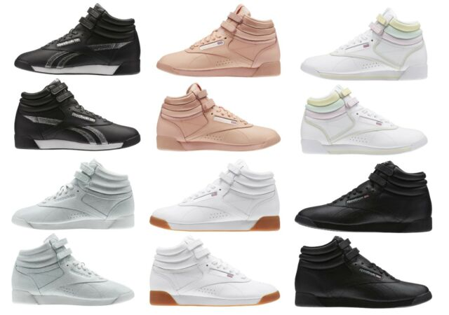 NEW Reebok Women's Fashion Shoes Freestyle HI FBT RETRO Leather Sneakers