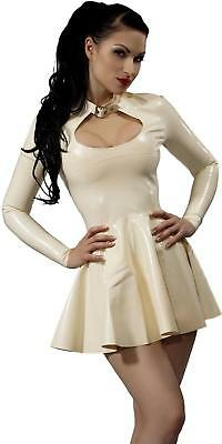 Westward Bound Tease Latex Dress Warm White