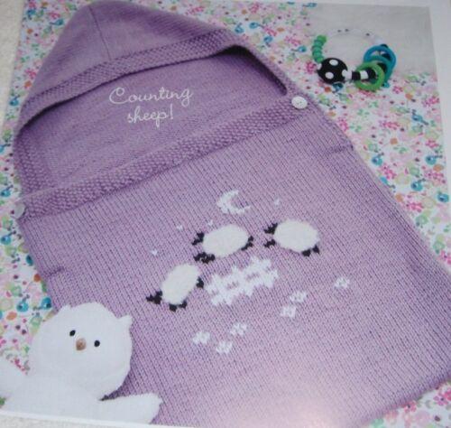 Baby Aran Sleep Bag with Sheep Motif ~ fits approx 0-6months ~ Knitting Pattern