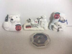Vintage Lot of 4 Bear Refrigerator Magnets