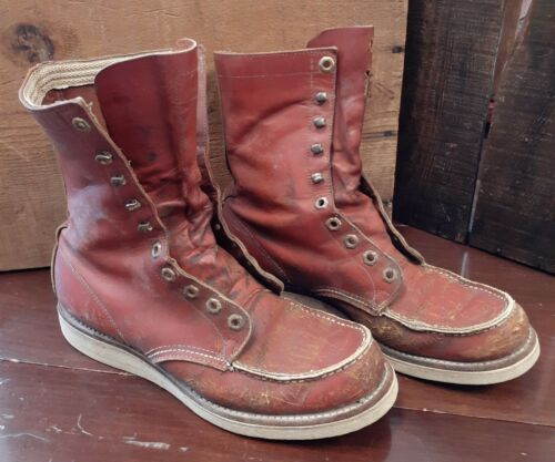 Vintage Red Wing Tuffy Boots Brown Leather Grunge