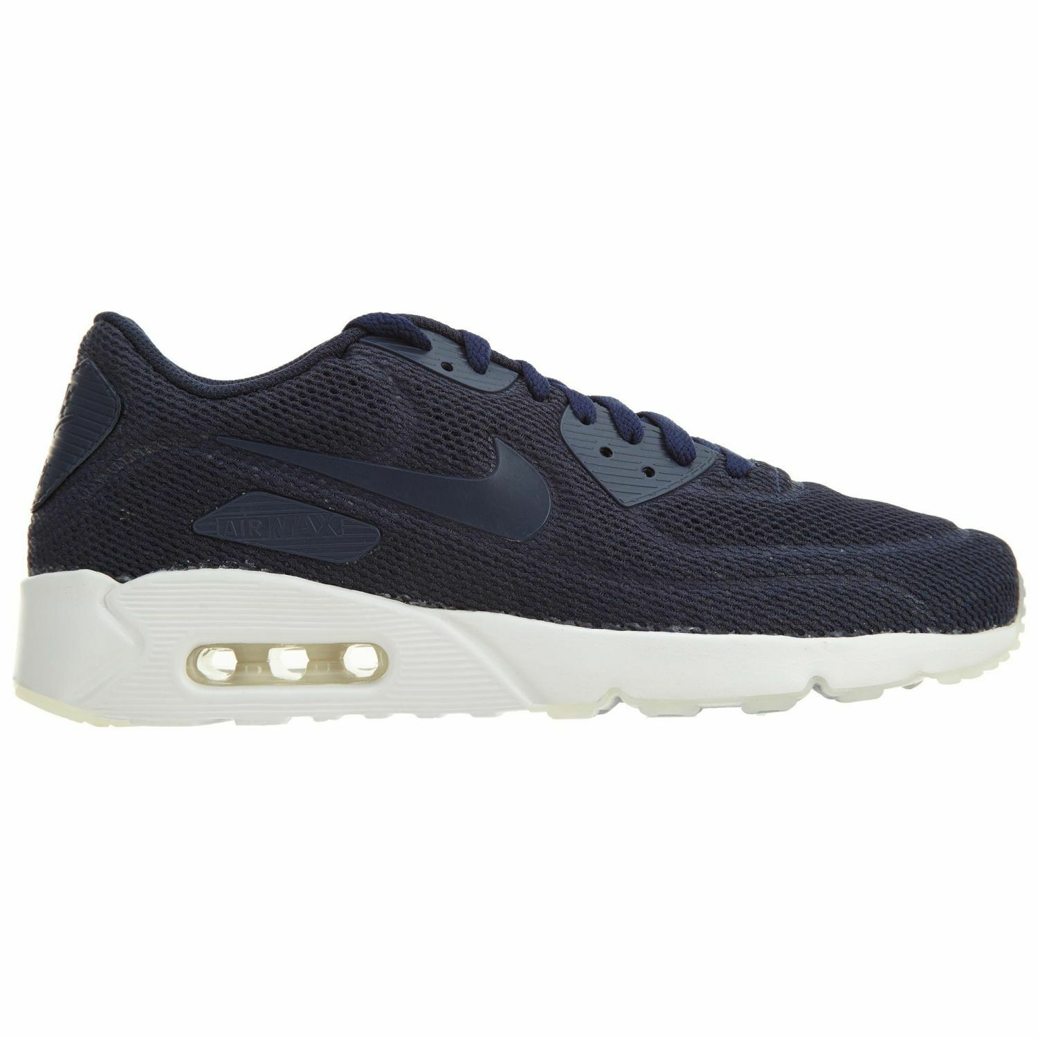 Nike Air Max 90 Ultra 2.0 BR Mens 898010-400 Midnight Navy Running Shoes Size 10