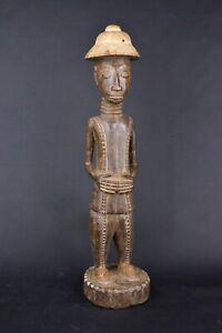 Statue-africaine-baoule-de-Cote-d-039-Ivoire-en-bois-2019-470