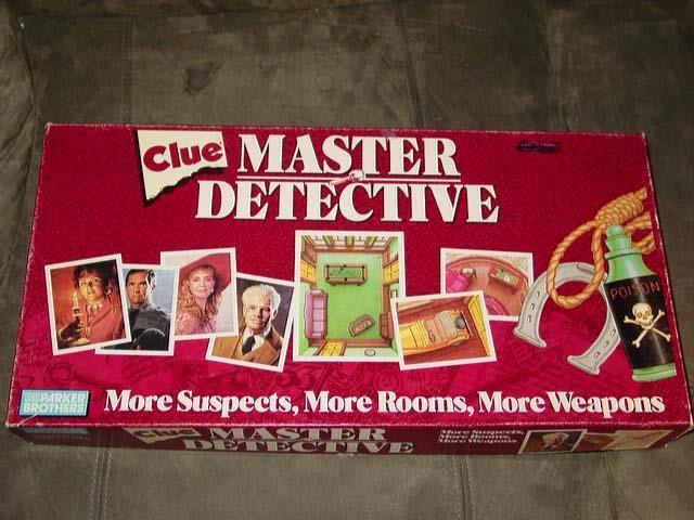 Parker Bredhers 1988 - Clue Master Detective - More Suspects, Rooms, Weapons