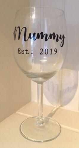 Momie HNE 2019 Autocollant Vinyle Autocollant Pour Verres à vin nouveau bébé//Mères Jour Cadeau
