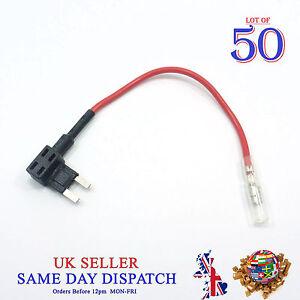 50x-ajouter-un-circuit-Piggy-Back-Fuse-Tap-Mini-Blade-Holder-12-V-ATM-ATP-Voiture-Bateau