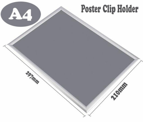 A2//A3//A4 Picture Snap Frames Poster Clip Holders Displays Retail Wall Notice UK