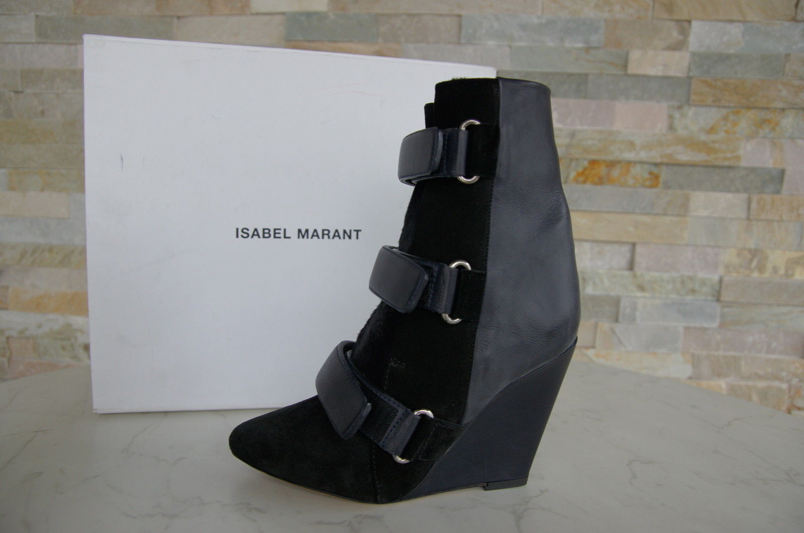 Isabel Marant Size 36 Ankle Boots Boots fur shoes Midnight New Previously
