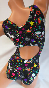 FlipFlop-Leos-Gymnastics-Leotard-Gymnast-Leotards-OPEN-BACK-UNICORNS