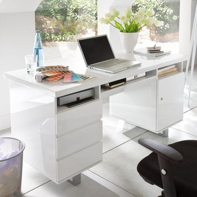 Favorit Markwellmöbel Schreibtisch Tucker In Hochglanz LACK weiß günstig KI54