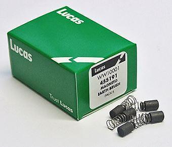 455191 Pack 5 Genuine Lucas Magneto Earth Brushes /& Springs Lucas K2F 455190