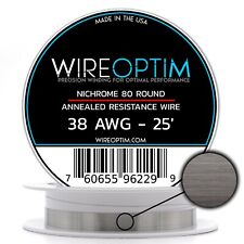 38 Gauge Awg Nichrome 80 Wire 25 Length N80 Wire 38g Ga 010 Mm 25 Ft