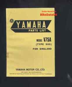 Yamaha-Moped-V75A-75-79-Genuine-Parts-List-Catalog-Book-Manual-V-75-A-595-CE52