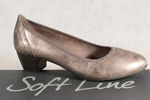 Soft Line by Jana Damen Pumps Slipper taupe Weite H NEU!