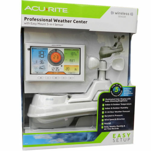 Acurite 5 in 1 Wireless Professional Weather Station w/ Colour Monitor