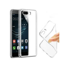 HUAWEI P10 PLUS - ULTRA SLIM THIN CRYSTAL CLEAR GEL COVER CASE + 2 SCREEN GUARDS