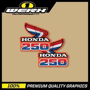 1985 CR500R Honda Radiator Shroud decals