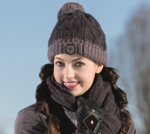Lauria Garrelli Scotland équestres taille unique Tricot Hiver Chaud Doux Bobble Hat