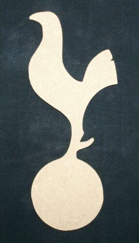 MDF Tottenham FC Cockerel unpainted wood craft shape plaque blank embellishment